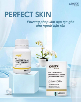 Viên Uống Perfect Skin - Damode beauty fish collagen with herbal extract capsule