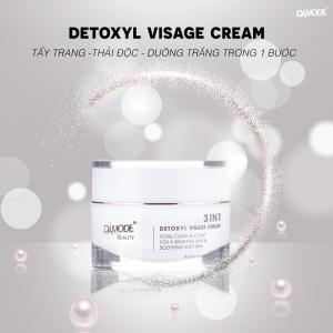 DAMODE 3IN1 DETOXYL VISAGE CREAM - Kem Rữa Mặt, Tẩy Trang, Thải Độc da