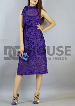 Đầm Xanh Phối Ren