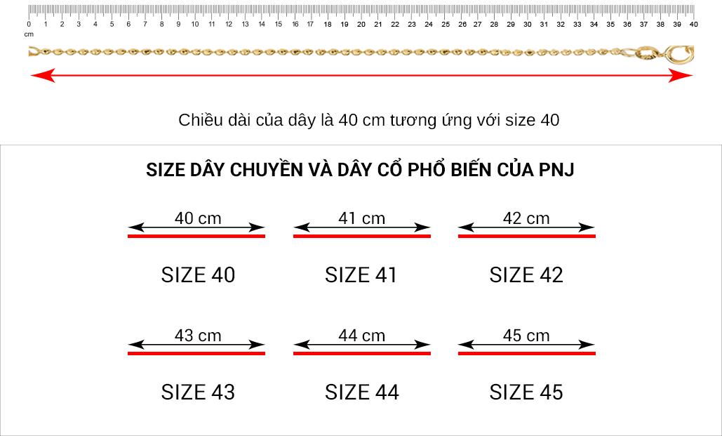 Cách đo size dây chuyền