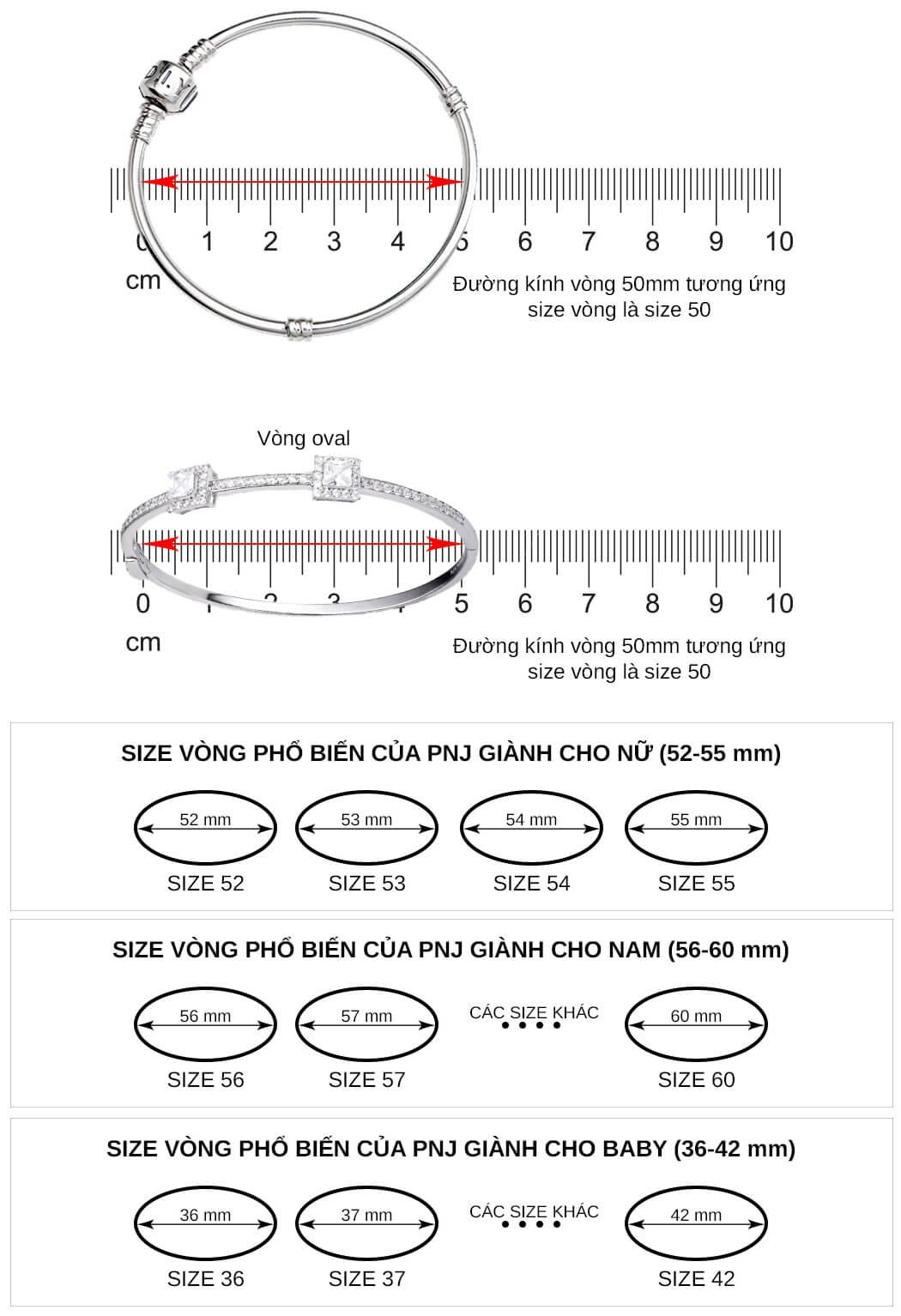 Cách đo size vòng tay