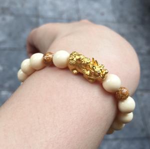 Vòng ngà voi mix vàng 24k