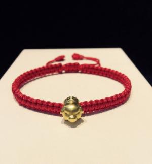 Vòng dây tết charm Heo vàng 24k