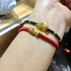 Vòng dây tết Tỳ hưu vàng 24k