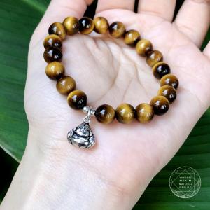 Vòng Tiger eyes  Phật adida mang đến Hạnh Phúc, sung túc
