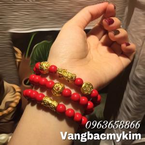 Vòng Chusa mix charm vàng 24k