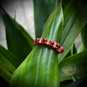 Nhẫn Mã não huyết Vip - Vàng hồng 10k - 14k - 18k