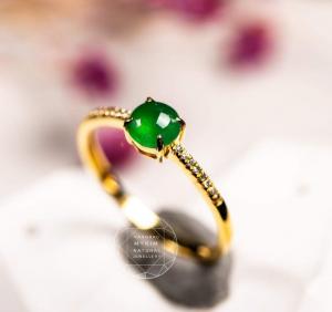 Nhẫn Ngọc Phỉ Thúy - Vàng 10k - 14k - 18k