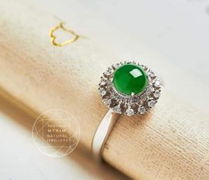 Nhẫn Ngọc Phỉ Thúy - Vàng 14k - 18k - Bạc si vàng trắng
