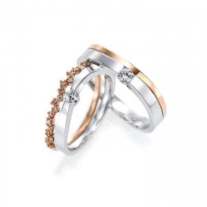 Nhẫn cưới - MS02 - Vàng 14k - 18k