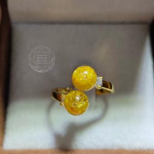 Nhẫn Thạch Anh Tóc Vàng - 10k - 14k - 18k