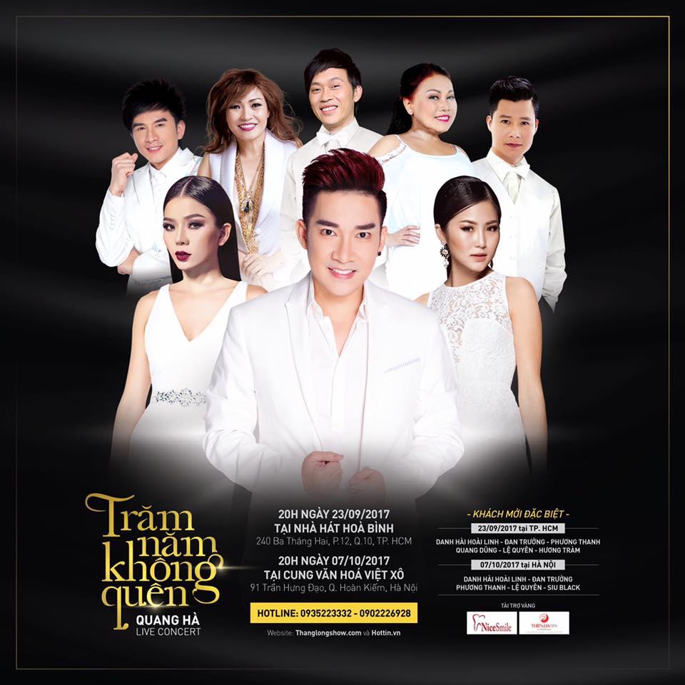 Live Concert 2017 tại Hà Nội của Quang Hà đã 'cháy vé' dù giá vé Vip lên đến 30 triệu đồng/cặp