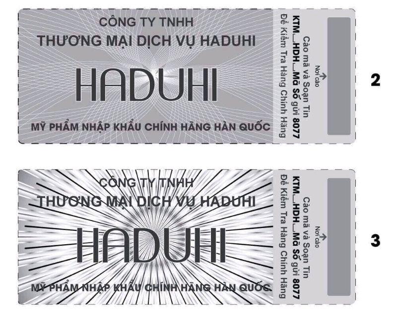 Cách kiểm tra sản phẩm Haduhi chính hãng