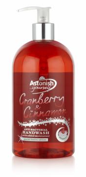 Nước rửa tay thảo dược nam việt quất & quế Astonish C4650_1/2lit