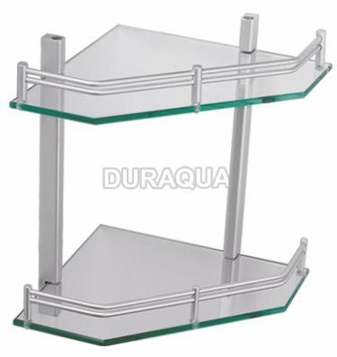 Kệ kính 2 tầng treo góc Duraqua 7016