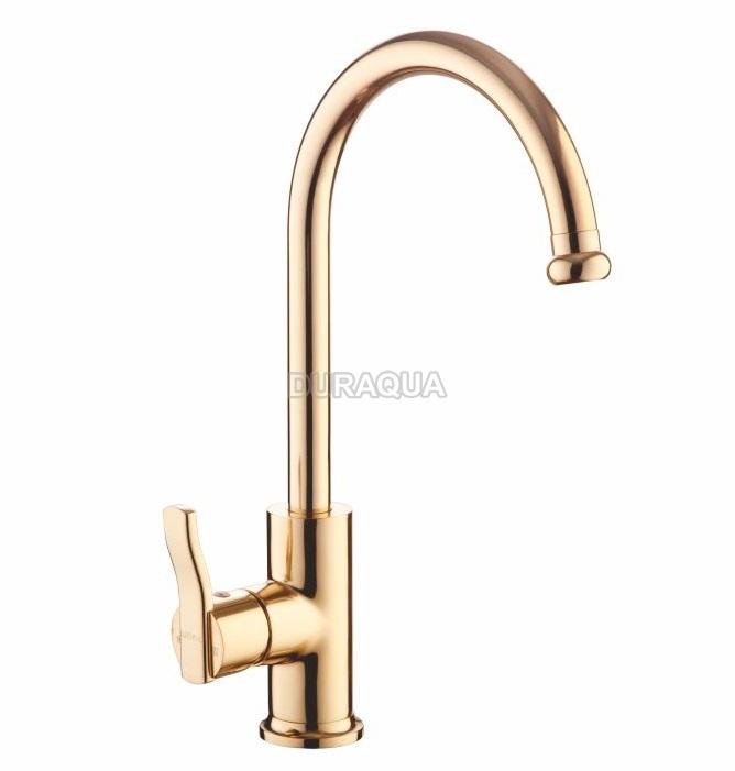 Vòi rửa chén bát mạ vàng Duraqua DQKG065