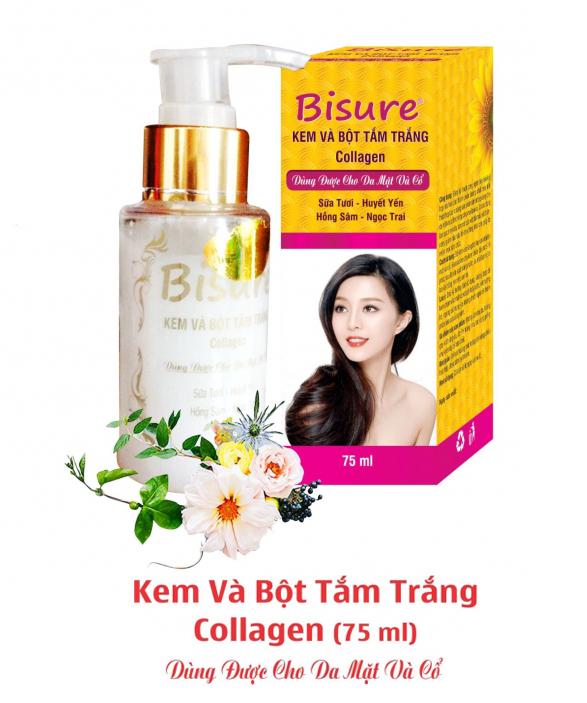 Kem Và Bột Tắm Trắng Collagen cho da mặt và cổ