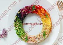 Salad sắc màu thơm ngon bắt mắt