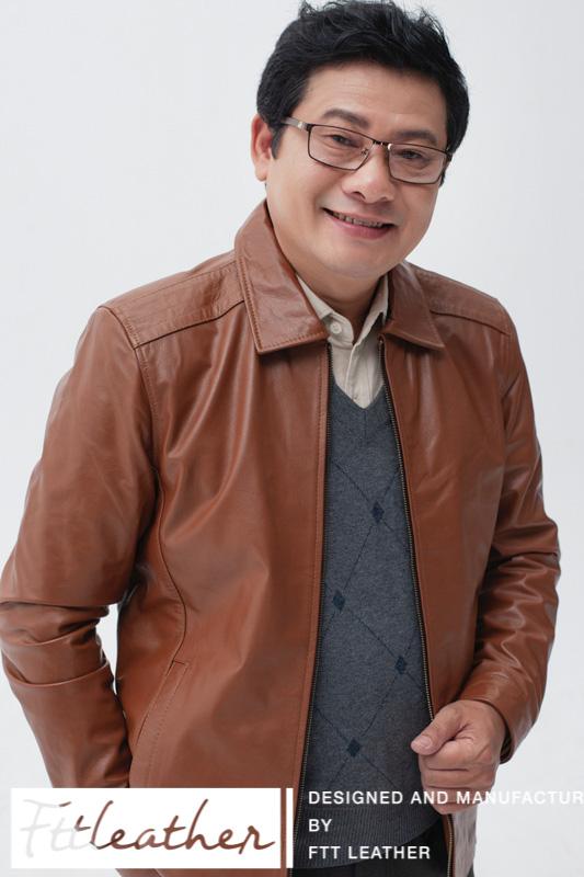 Những mẫu áo khoác da nam cho người trung tuổi