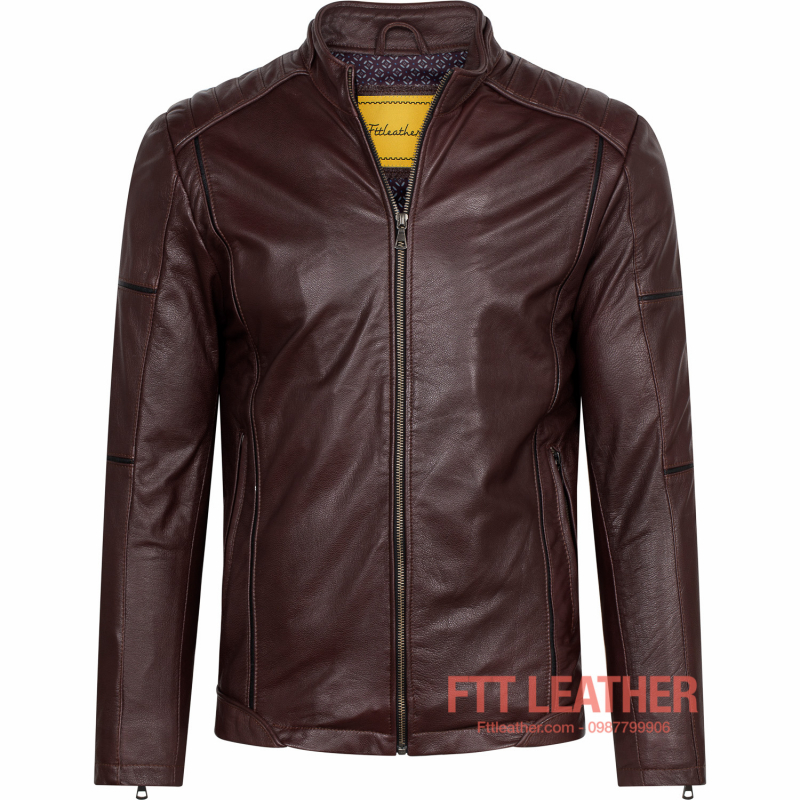 Áo da Racer Jacket – MS MJ03PP U5