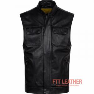 Áo da dê dáng Vest Jacket – MS VJ01BL - A2017