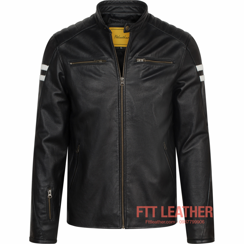 Áo da Motorcycle Jacket - MS MJ04BL2 U5