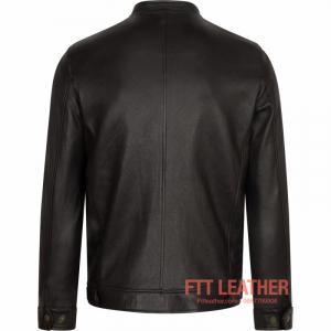 Áo da Racer Jacket da dê màu hạt dẻ-10124511CH - LX