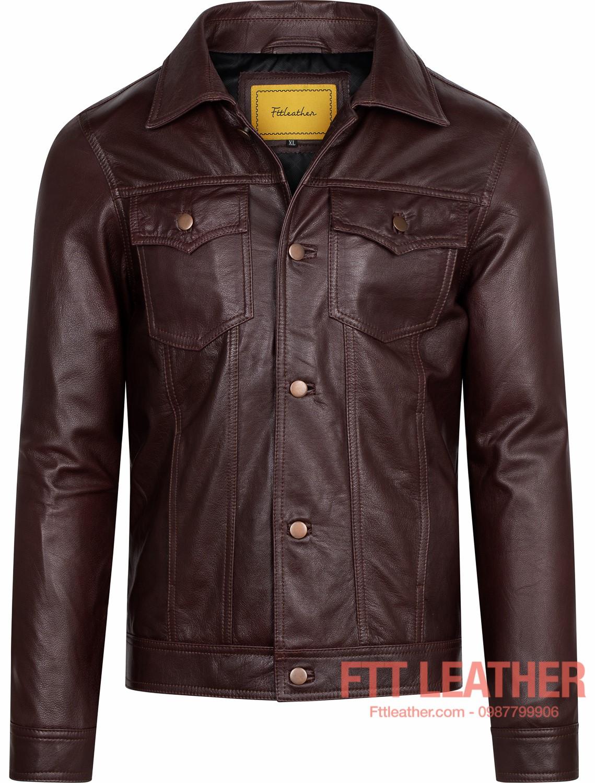 Áo da Classic Jacket – MS CL02PP - LX U5