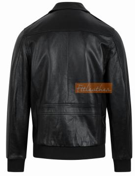 Pilot Leather Jacket - Áo da bomber Pilot da dê mã 101245BLPilot - 2018 - Mã 5005D40