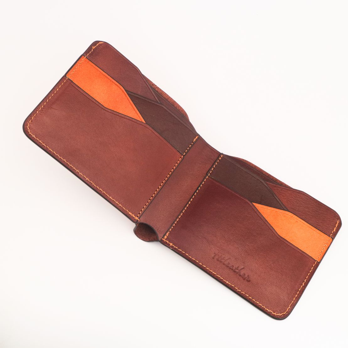 Ví da handmade màu cà phê – FTT Leather mã V01010550CH