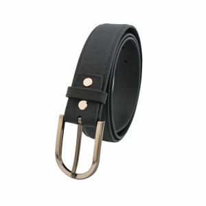 (CAO CẤP) Thắt lưng nam da bò Mill đen mã DF33920101BL