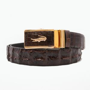 Thắt lưng nam da cá sấu nâu mặt vàng (Cá sấu Việt,Cá sấu Thái nối,Cá sấu Thái liền)