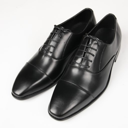 GIÀY DA NAM OXFORD CAP TOE FTT LEATHER MÀU ĐEN TCA4038
