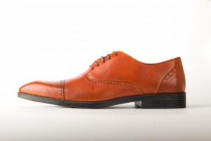 Giày công sở Oxford cap toe màu vàng bò