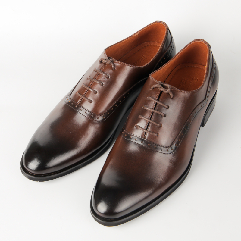 Giày Oxford Brogue màu nâu đẳng cấp