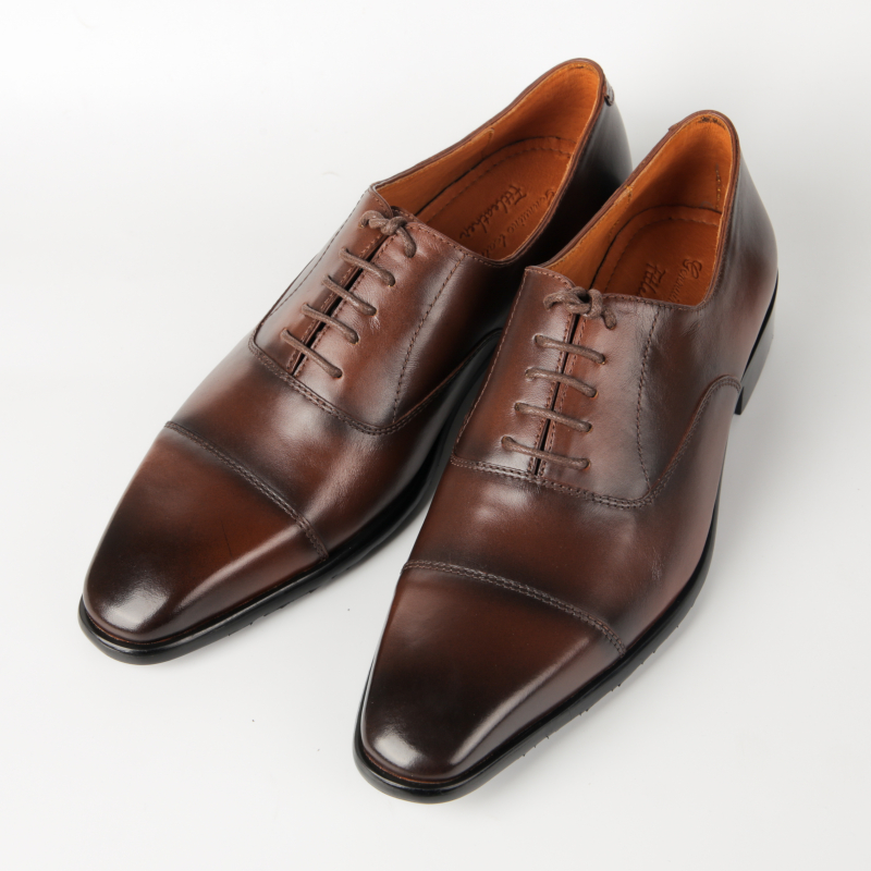 Giày công sở captoe màu nâu đen nam tính
