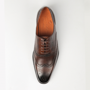 Giày nam Oxford wingtip màu nâu bò nam tính