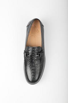 Giày da vân cá sấu độc đáo - mẫu giày trẻ trung F0203401