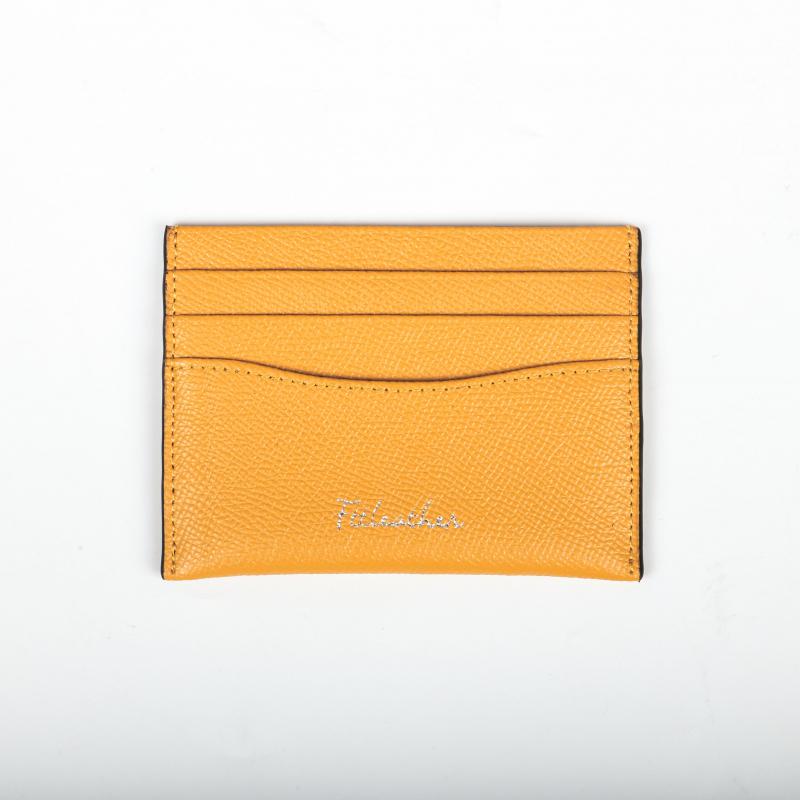 Ví Card Saffiano Màu Vàng