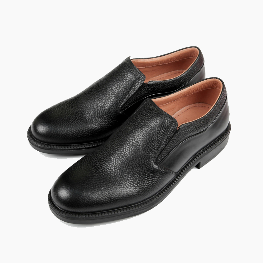 Giày da nam thật màu đen F327040