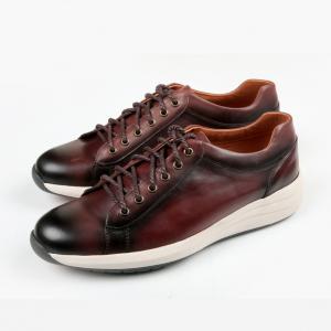 Giày da nam thật màu nâu đỏ F207041