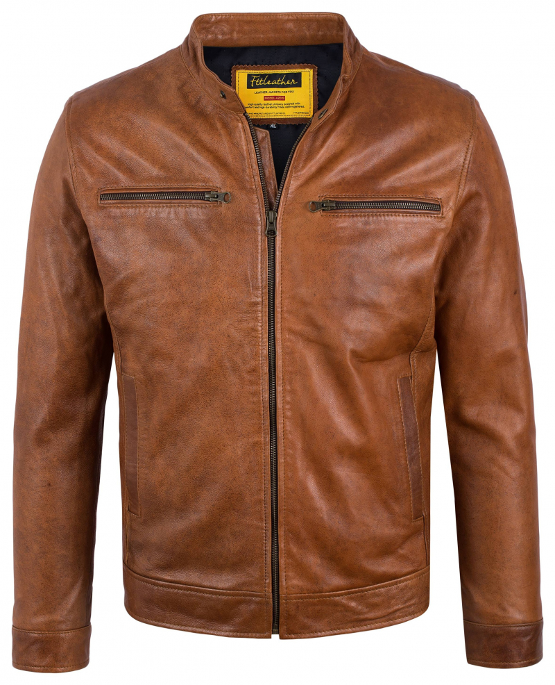 Áo da Distressed Racer Jacket S-Class - S2019 - Áo da cừu Wax