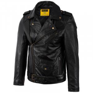 Áo da Classic Biker Jacket S-Class - S2019 - Áo da bò nhập khẩu chính ngạch  mã 3001B40