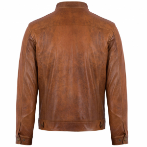 Áo da Distressed Racer Jacket S-Class - S2019 - Áo da cừu Wax Max 3008C42