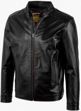 Áo da Racer Jacket S-Class - S2019 - Áo da cừu màu đen và màu nâu Mã 2002C