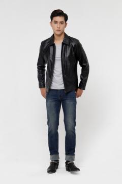 Áo da Collar Jacket S-Class - S2019 - Mã 4001B40/4002B40