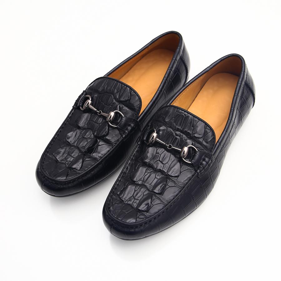 Giày Loafer da cá sấu - FTT LEATHER màu đen