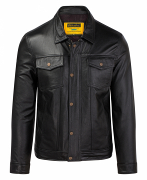 [S2020] Áo da bò đen Trucker Jacket FTT leather S2020