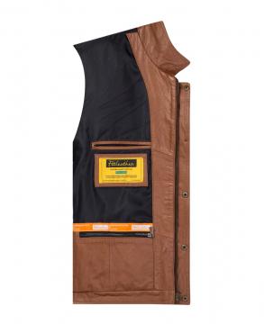 [S2020] Áo da bò Trucker Jacket - S2020 Màu nâu vàng bò - Mã 4004B03