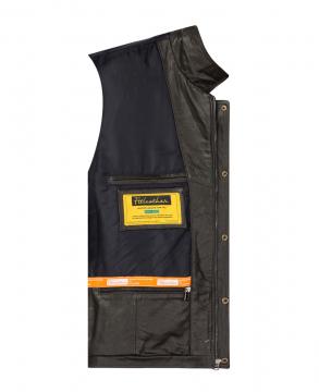 [S2020] Áo da bò túi hộp xanh rêu Trucker Jacket S2020 - Mã 4003b06